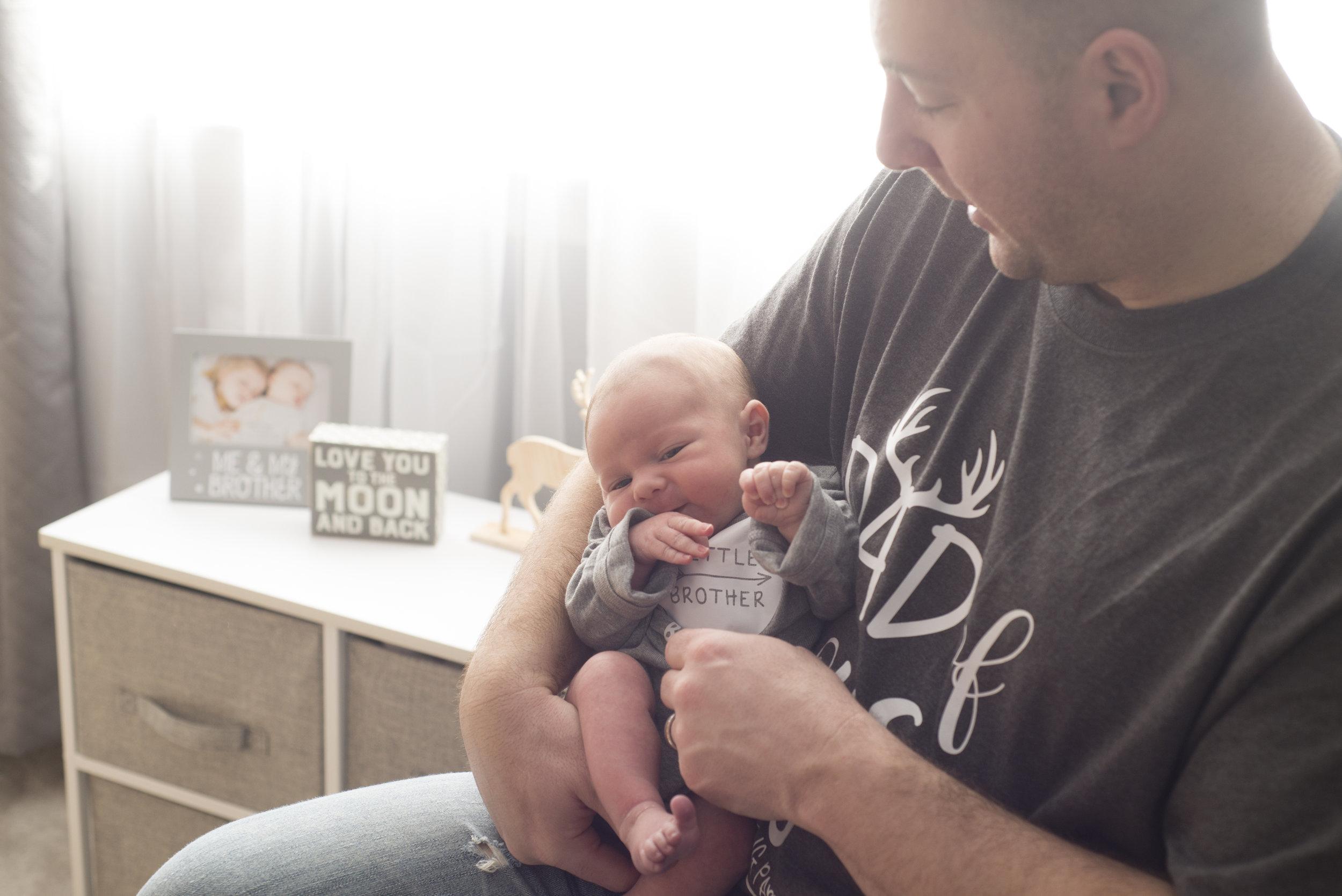 Pittsburgh Lifestyle Newborn Photography Daddy's little boy.jpg