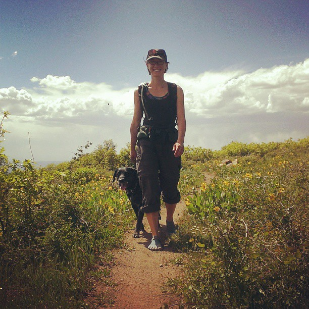 I'm Brandy, the owner/operater of Moab Bag Company. A self-describedaspiring master bagmaker, hiker, birdnerd, low-level geek, and dog entertainer.