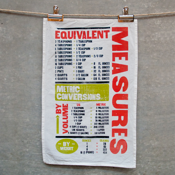 measurements tea towel