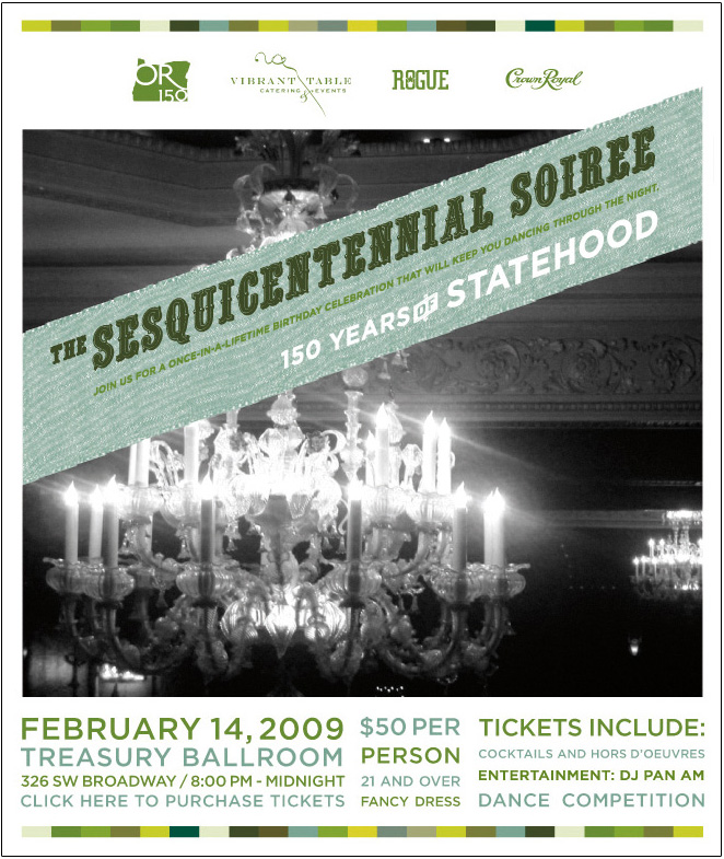 poster announcing the fundraiser ball