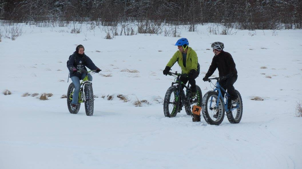 Lots of people trying out fat bikes for the first time - and loving it!