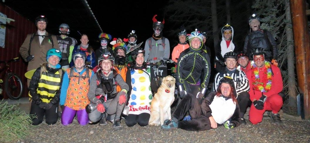 Sarah's first event as HMBA's newest Event Coordinator!  -  2014 Halloween Ride