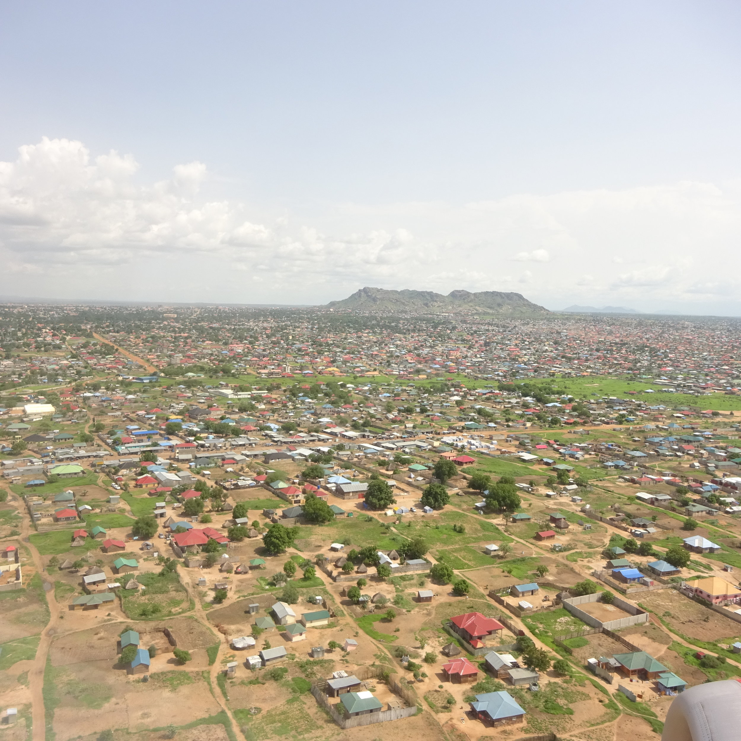 A view of Juba from the plane