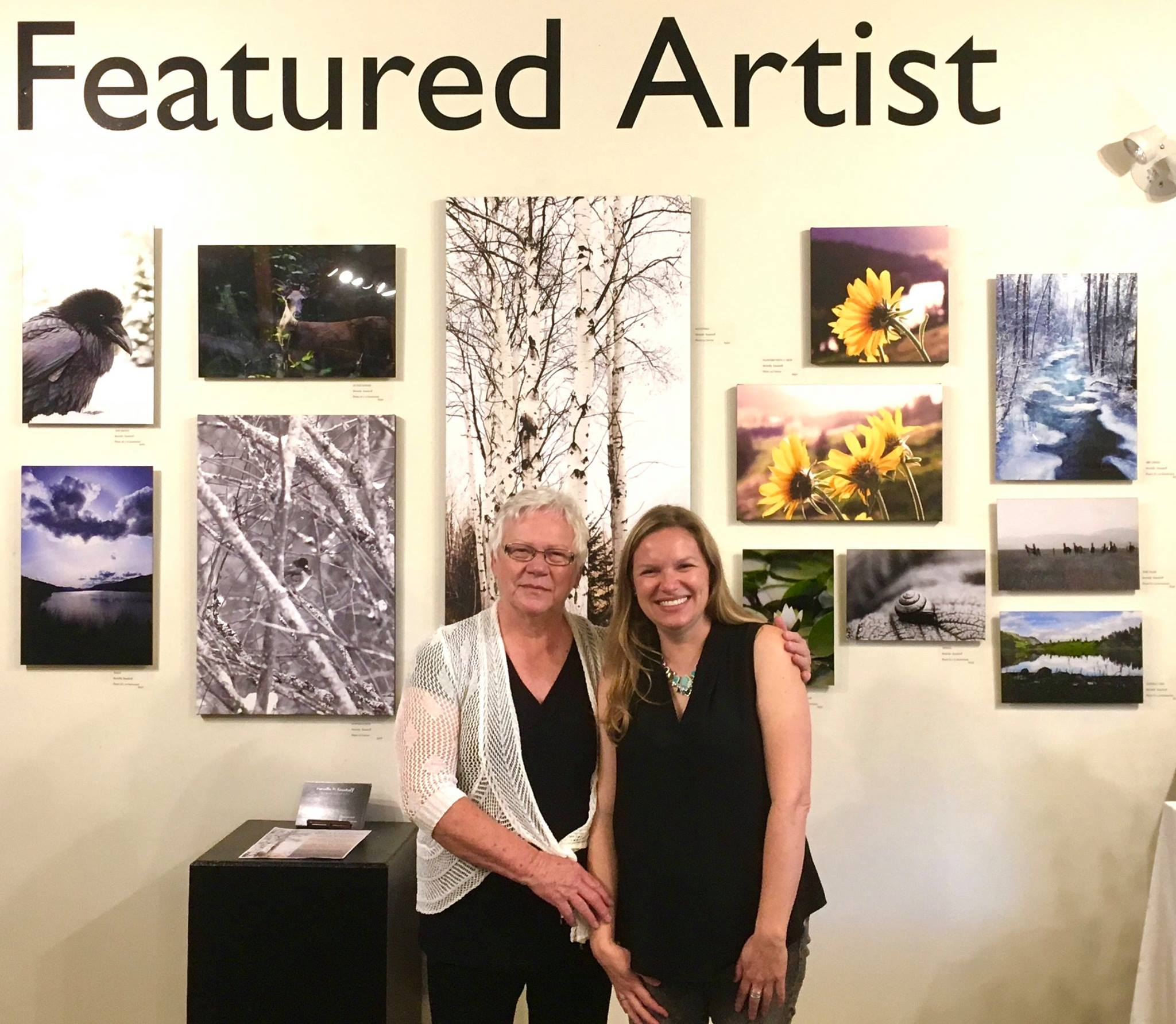 My mum and I at my opening reception, October 2017.