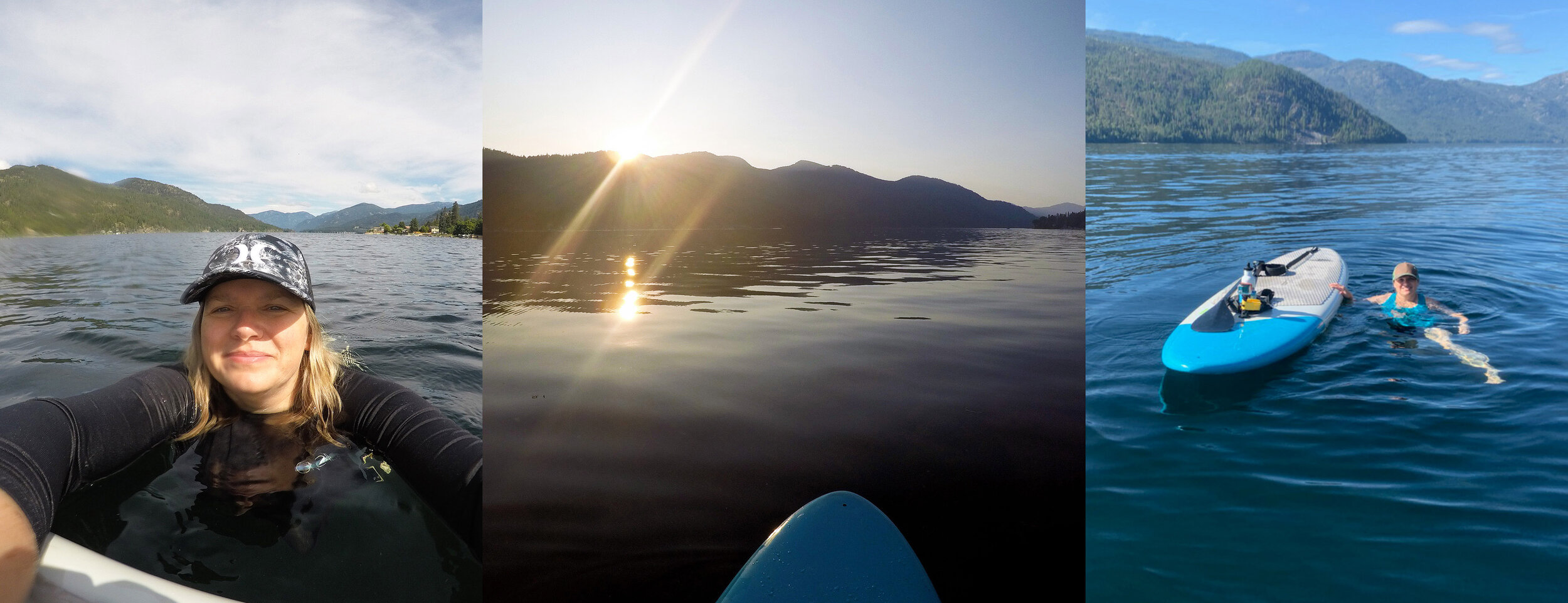 June 21 dip to September 21 dip. An August sunset in between.