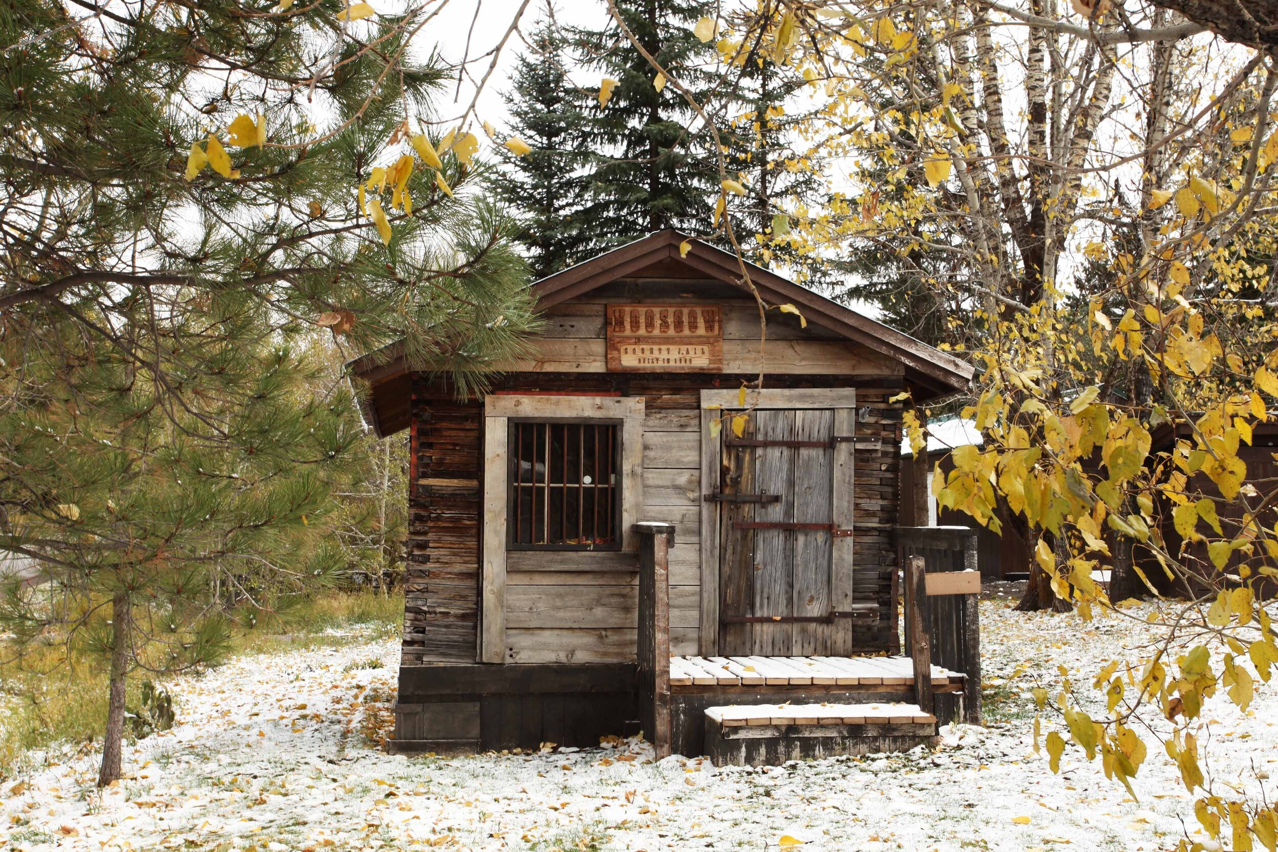 A well-preserved Hoosgow in Ovando, MT.