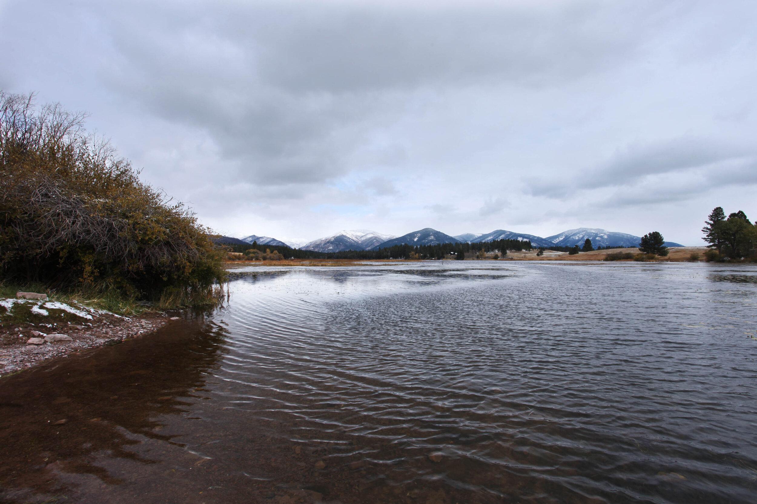 Upsata Lake on a chilly day.
