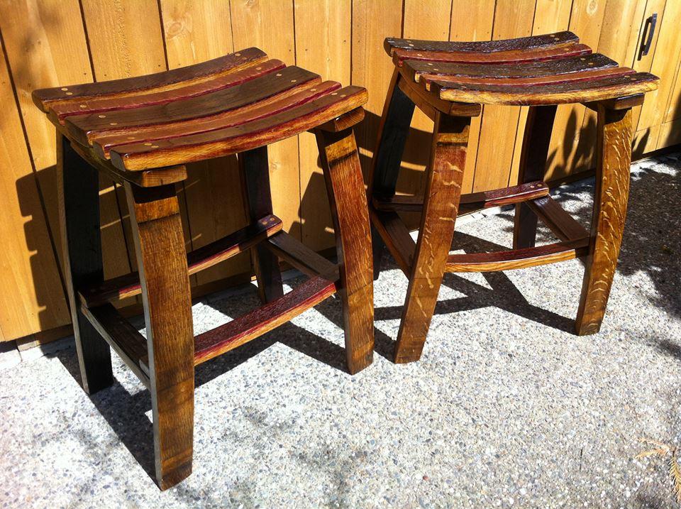 Barrel stave stools