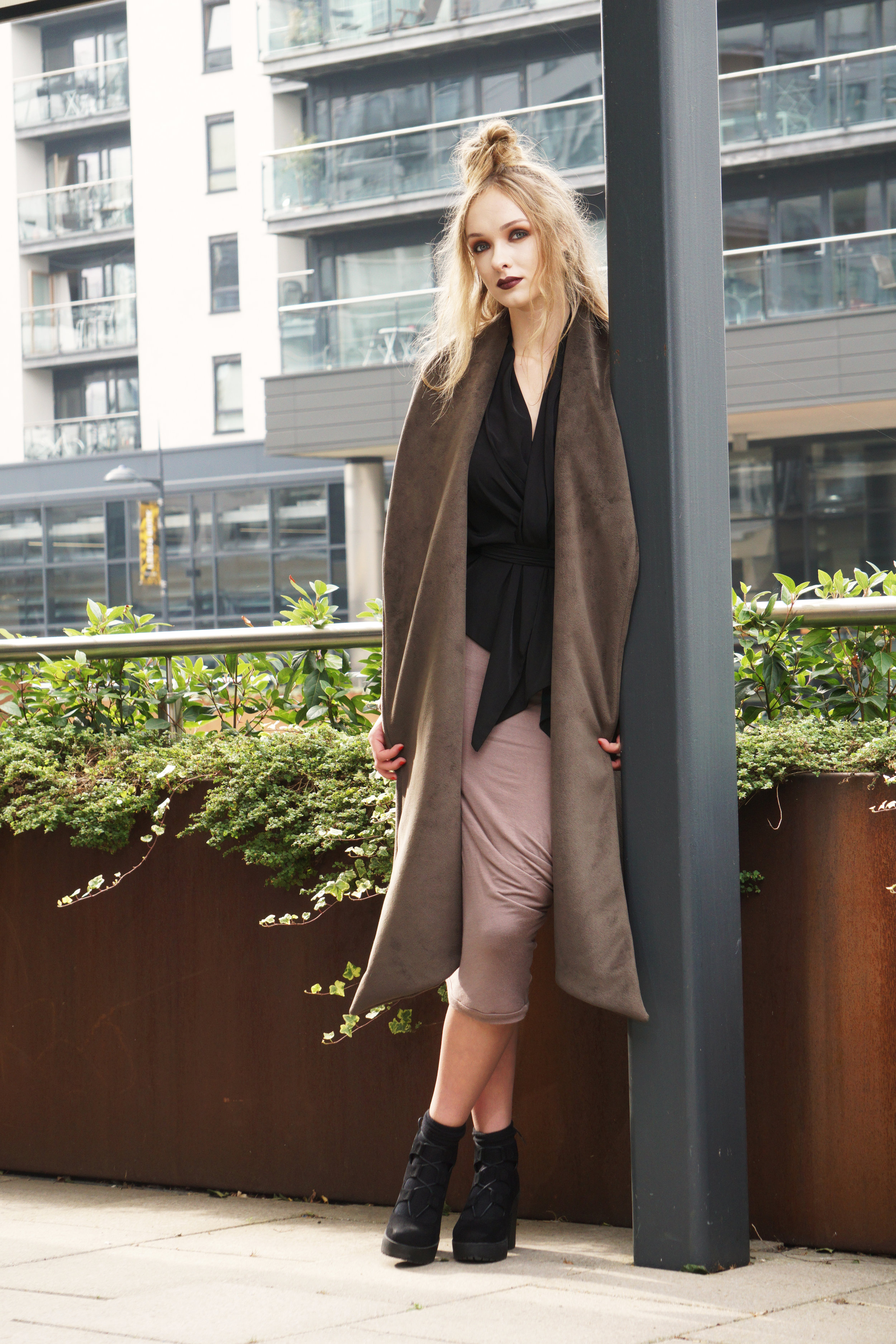 zaramia-ava-zaramiaava-leeds-fashion-designer-ethical-sustainable-taupe-versatile-drape-yoko-skirt-mioka-black-mai-coat-leeds-dock-grunge-9