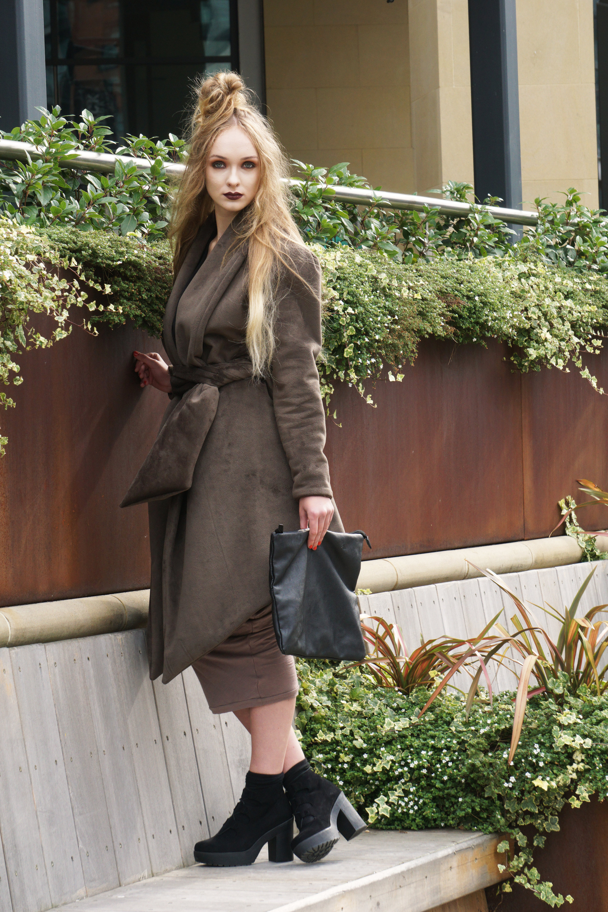 zaramia-ava-zaramiaava-leeds-fashion-designer-ethical-sustainable-taupe-versatile-drape-yoko-skirt-mioka-black-mai-coat-leeds-dock-grunge-clutch-bag-12