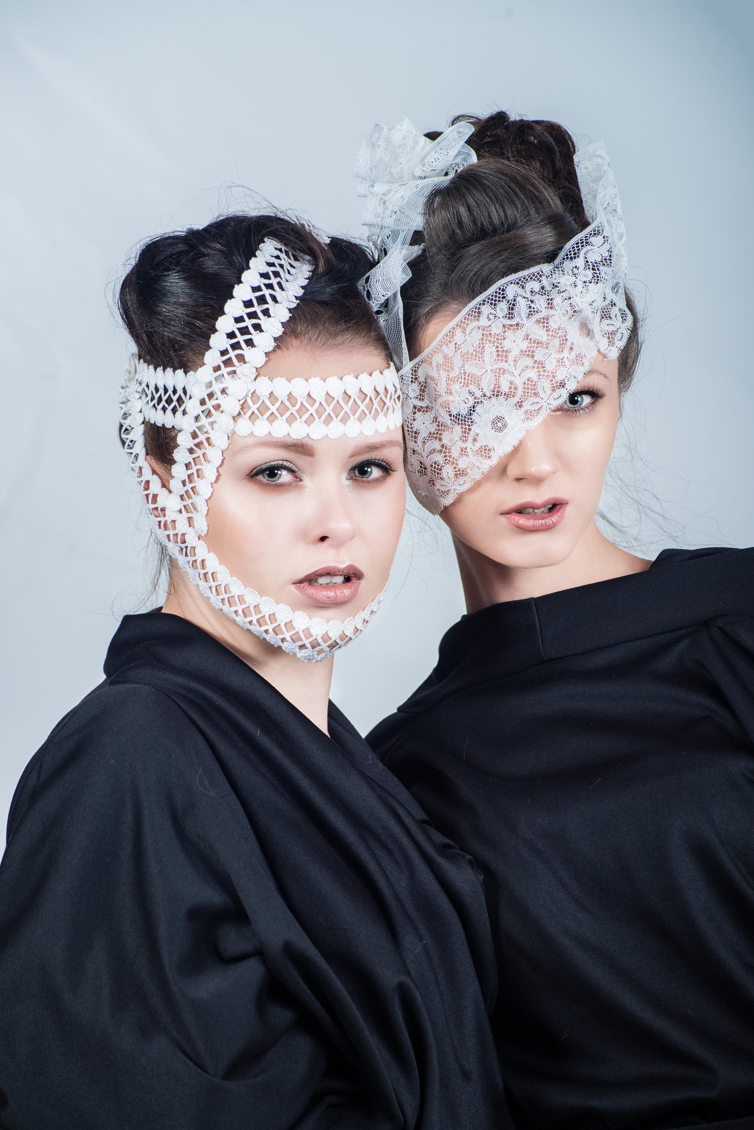 zaramia-ava-zaramiaava-leeds-fashion-designer-ethical-sustainable-tailored-minimalist-aya-lace-black-obi-belt-dress-versatile-drape-cowl-styling-studio-womenswear-models-photoshoot-black-white-2