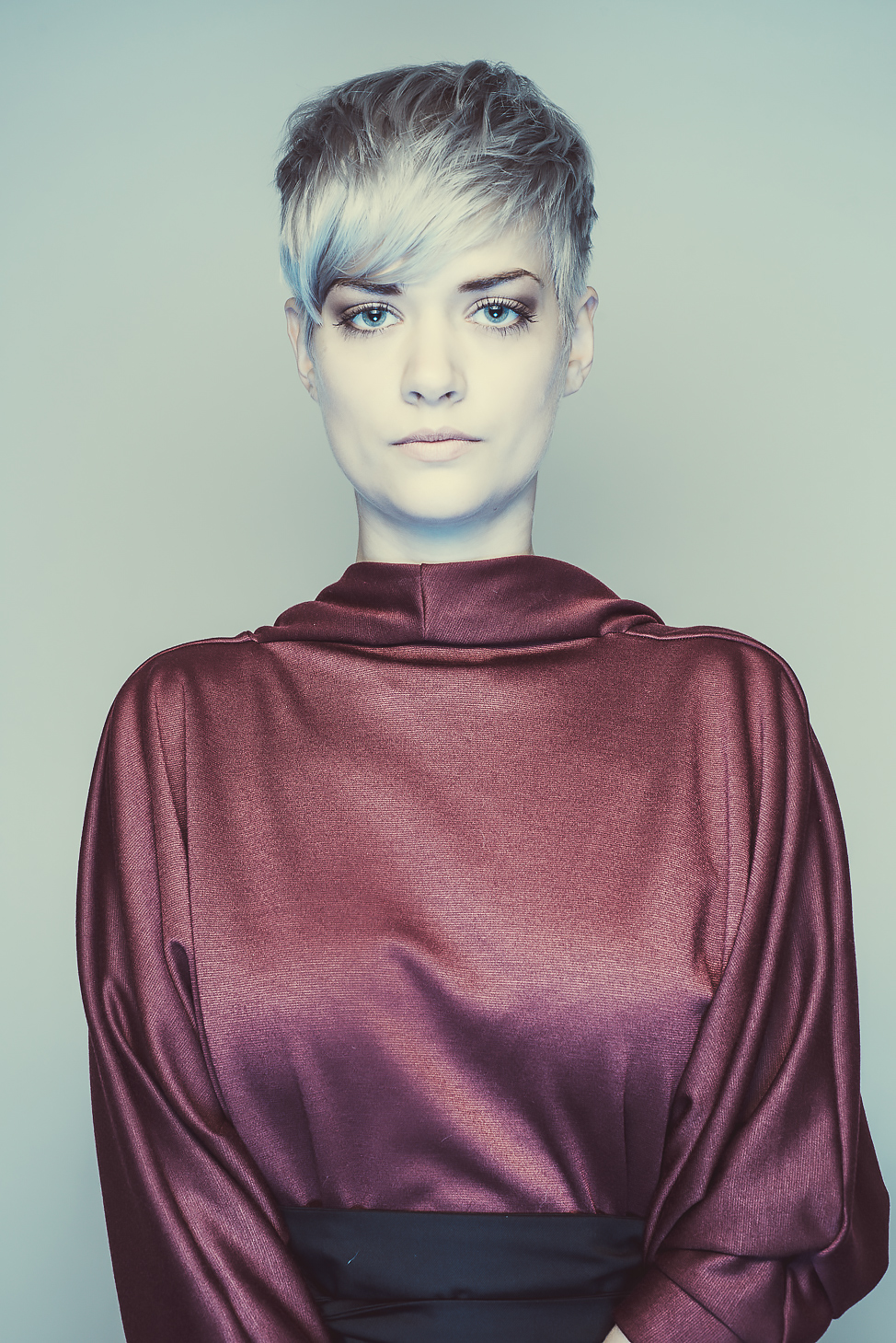 zaramia-ava-zaramiaava-leeds-fashion-designer-ethical-sustainable-tailored-minimalist-aya-burgundy-dress-obi-belt-black-versatile-drape-cowl-styling-womenswear-models-photoshoot-shrine-hairdressers-6