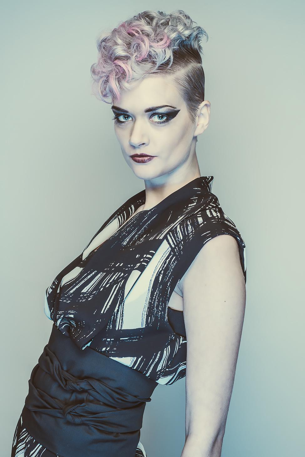 zaramia-ava-zaramiaava-leeds-fashion-designer-ethical-sustainable-tailored-minimalist-emi-print-black-belt-versatile-drape-cowl-styling-womenswear-models-photoshoot-shrine-hairdressers-69
