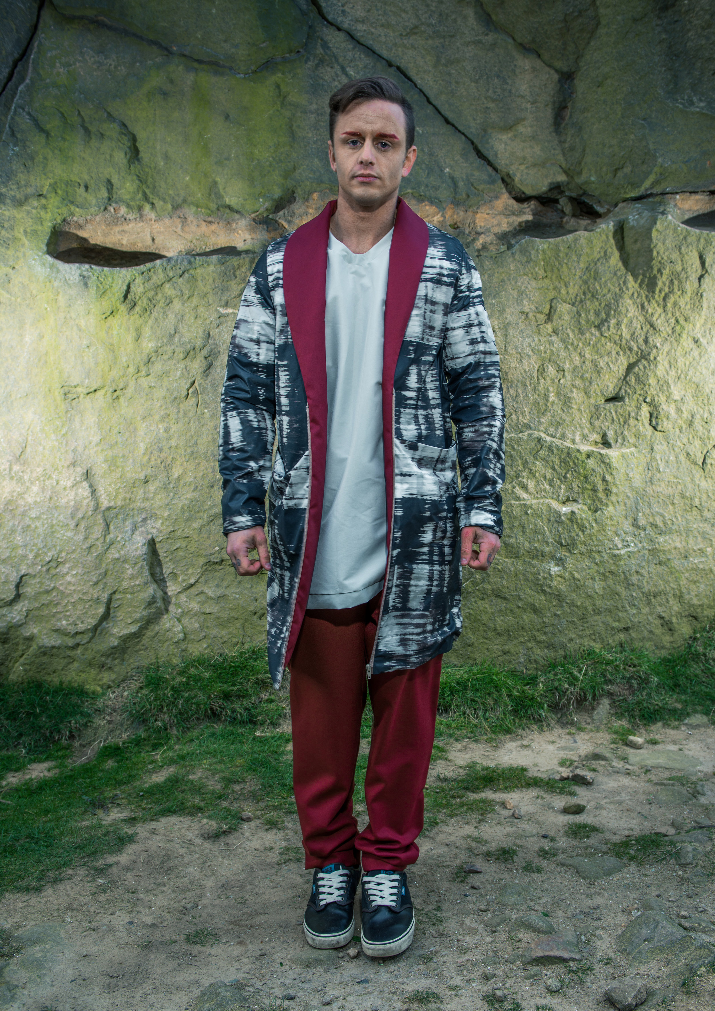 zaramia-ava-zaramiaava-leeds-fashion-designer-ethical-sustainable-tailored-minimalist-denim-red-print-coat-overzied-fitted-jersey-tshirt-top-trousers-versatile-drape-cowl-styling-menswear-models-13