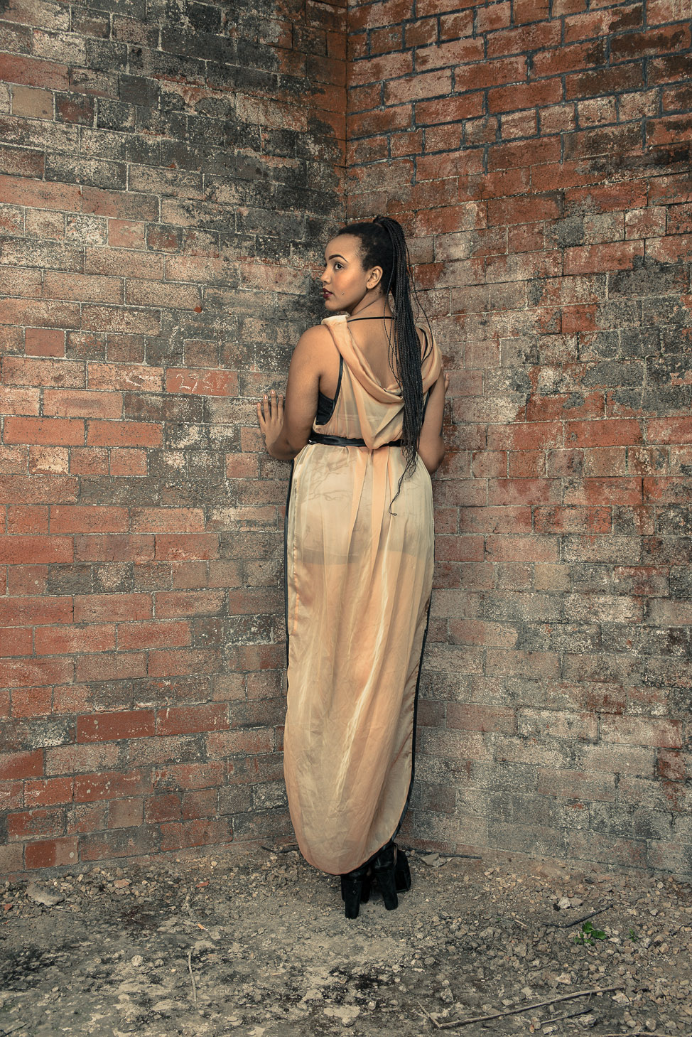 zaramia-ava-zaramiaava-leeds-fashion-designer-ethical-sustainable-tailored-minimalist-sheer-versatile-drape-dress-gold-binding-belt-wrap-cowl-styling-bodysuit-womenswear-models-photoshoot-location-3