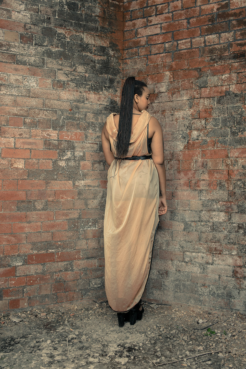 zaramia-ava-zaramiaava-leeds-fashion-designer-ethical-sustainable-tailored-minimalist-sheer-versatile-drape-dress-gold-binding-belt-wrap-cowl-styling-bodysuit-womenswear-models-photoshoot-location-5