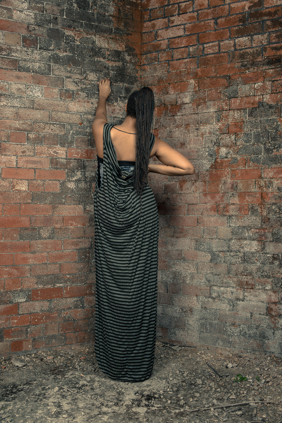 zaramia-ava-zaramiaava-leeds-fashion-designer-ethical-sustainable-tailored-minimalist-stripe-bodysuit-versatile-drape-dress-top-black-grey-print-belt-wrap-cowl-styling-bodysuit-womenswear-models-14