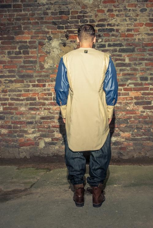 zaramia-ava-zaramiaava-leeds-fashion-designer-ethical-sustainable-tailored-minimalist-versatile-drape-grey-taupe-shirt-hareem-trousers-denim-brown-trousers-styling-menswear-model-photoshoot-23