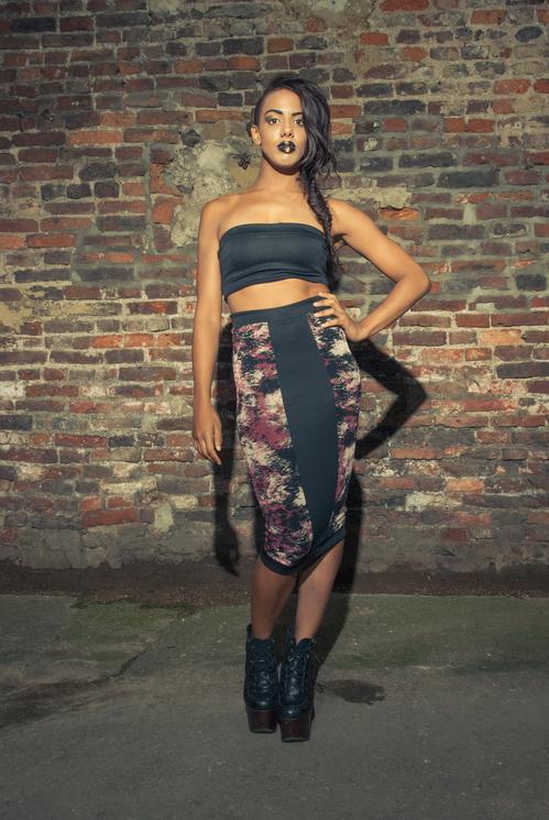 zaramia-ava-zaramiaava-leeds-fashion-designer-ethical-sustainable-tailored-minimalist-versatile-drape-bodysuit-bandeau-skirt-midi-panels-print-belt-styling-womenswear-model-photoshoot--62