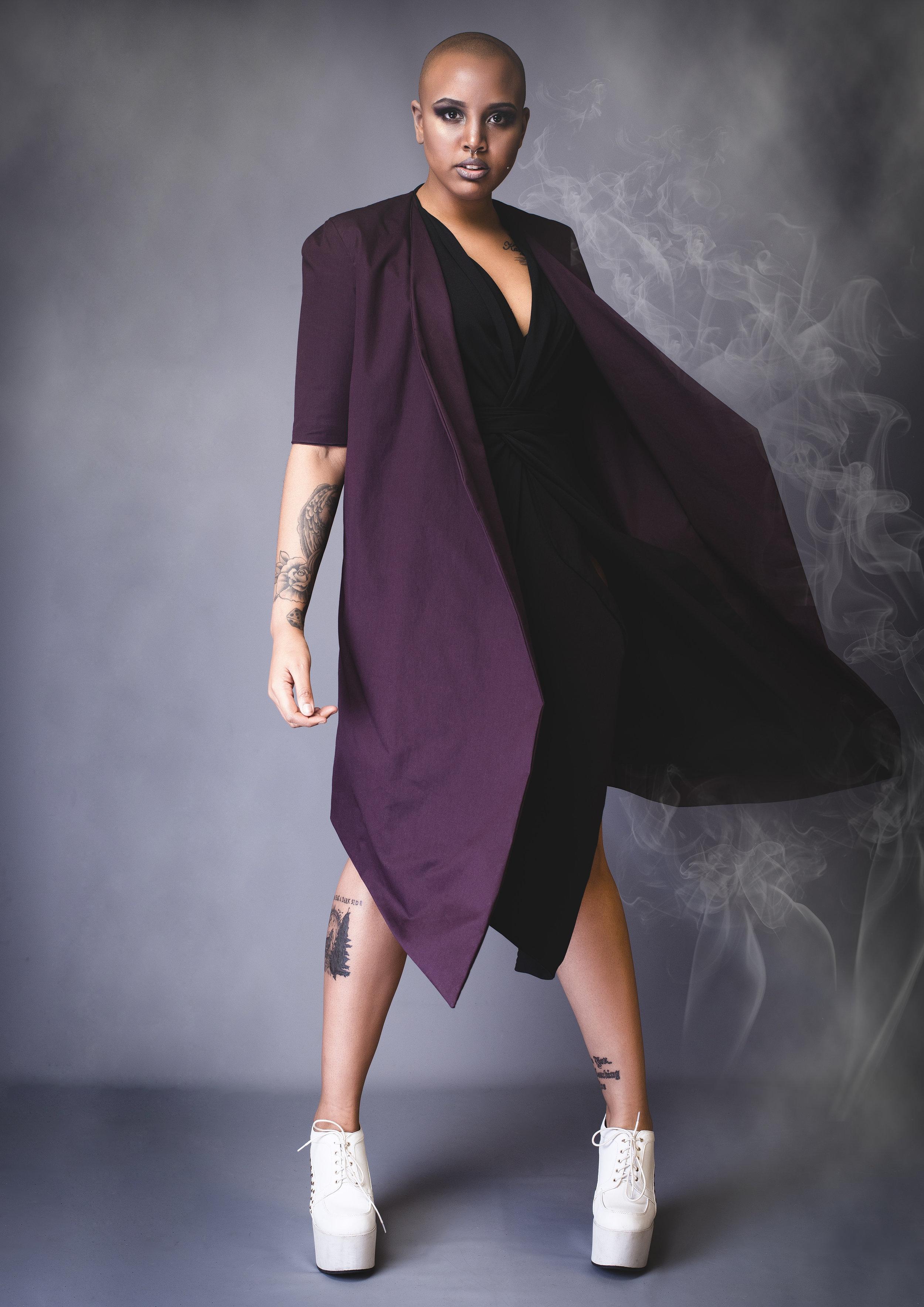 zaramia-ava-zaramiaava-leeds-fashion-designer-leedsfashiondesigner-stylist-leeds-stylist-leedsstylist-ethical-sustainable-minimalist-versatile-drape-wrap-purple-cowl-ryo-emi-black-4