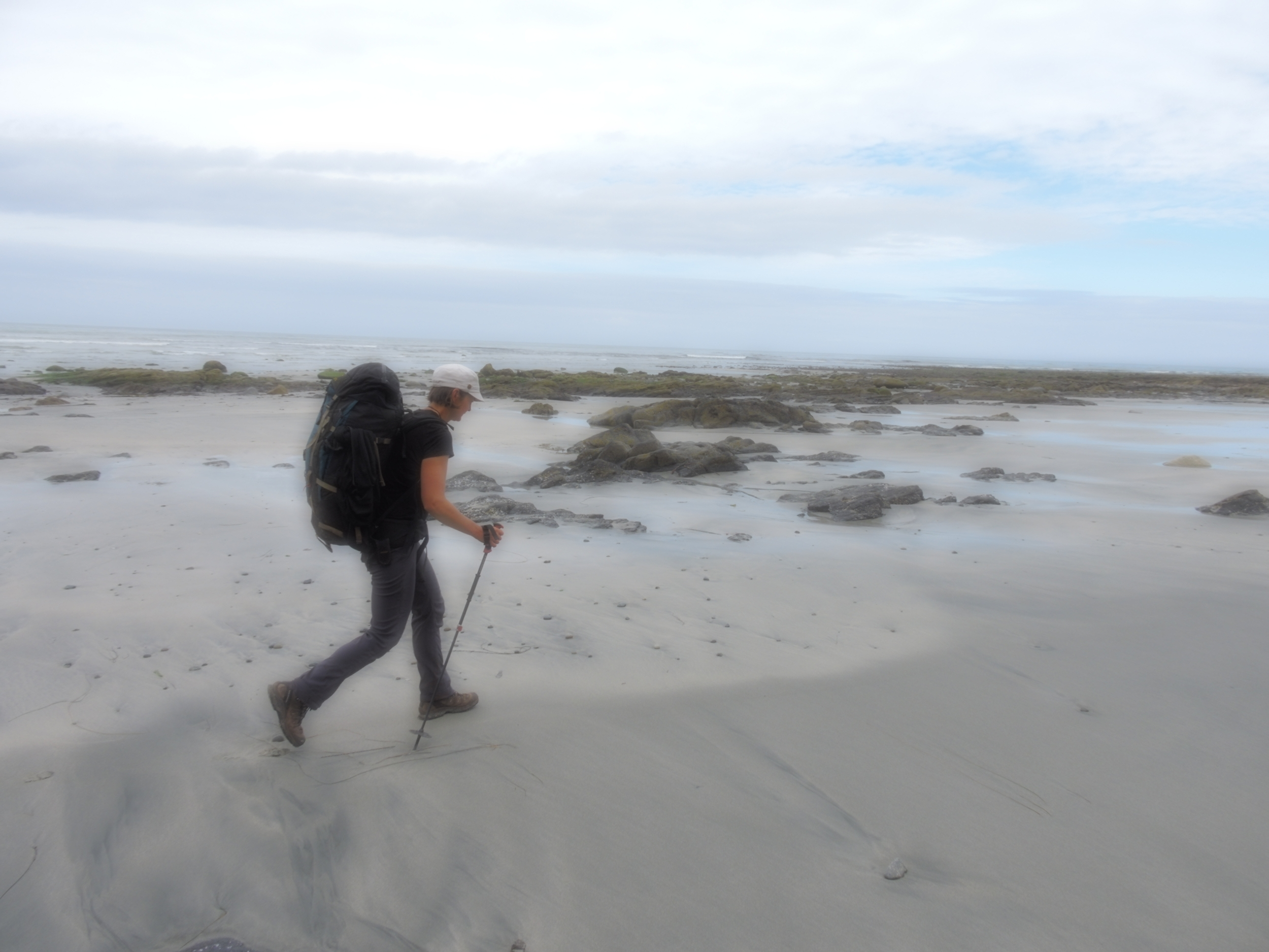 Fellow traveler, Fiona Hough on the North Coast Trail.