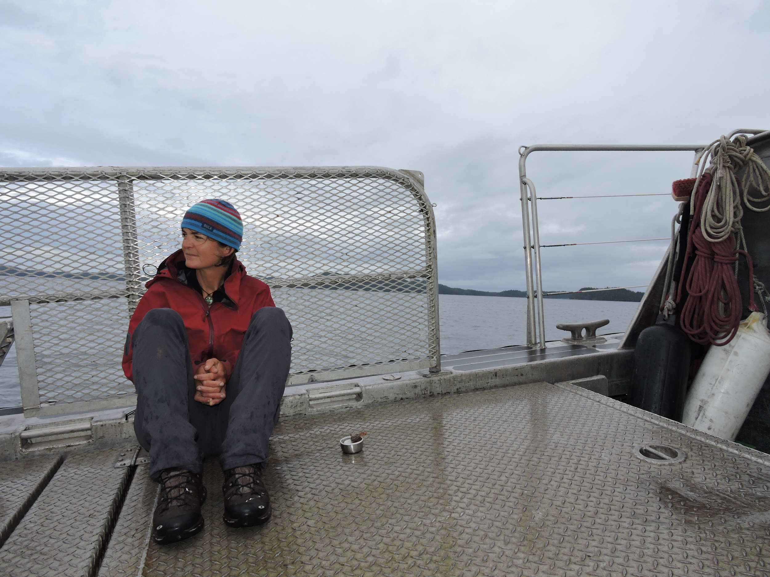 Fiona reflecting on the journey during the Water Taxi ride back.