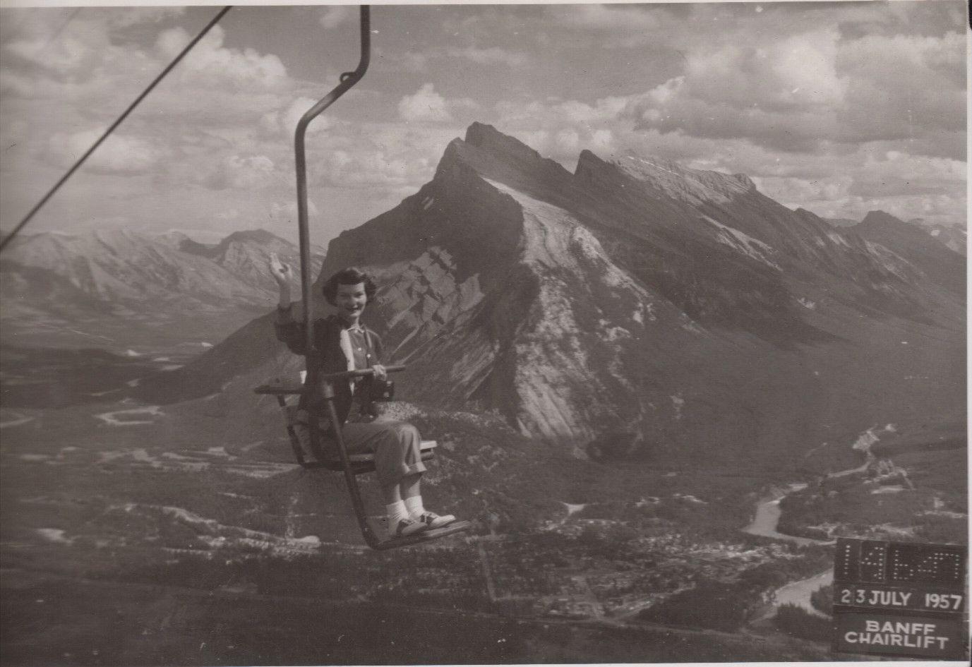 Sylvia Wylie in Banff 1957