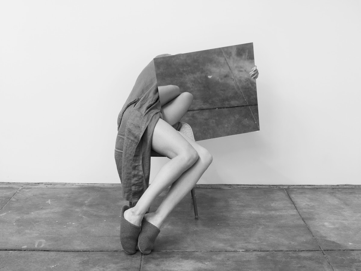 Disappear Here, Photography Exhibit Opening Reception // Saturday, January 6 @Durden and Ray // photo by Heather Rasmussen,Untitled (Study Mirror Slippers)