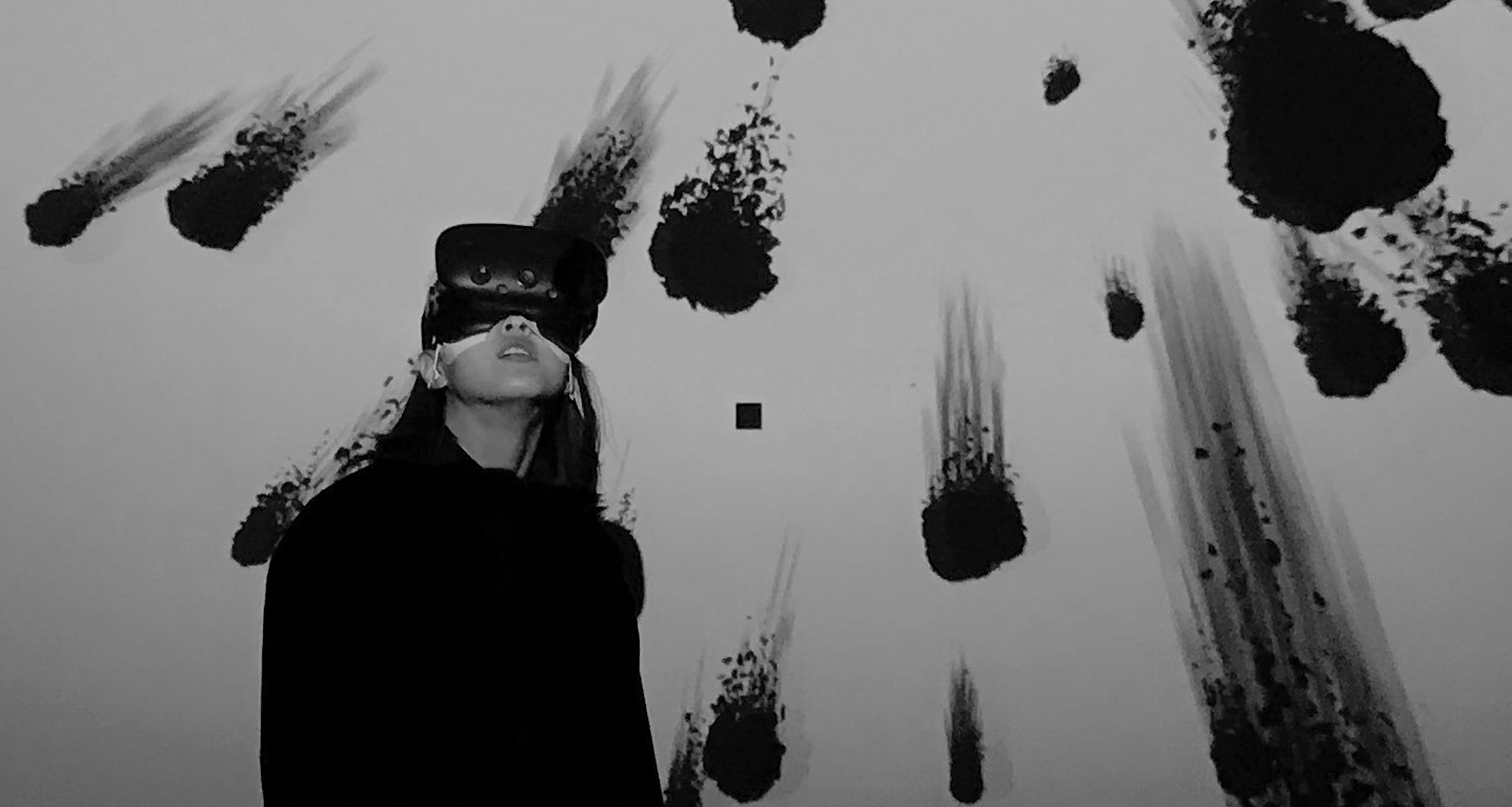 Nancy Baker Cahill:Hollow Point/Strange Laugh, Virtual Reality Art Exhibit @ LACE // photo source: welcometolace.org