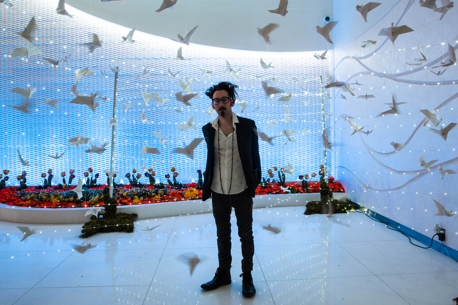 '50 Eagles Take Flight' installation, commissioned for a private event