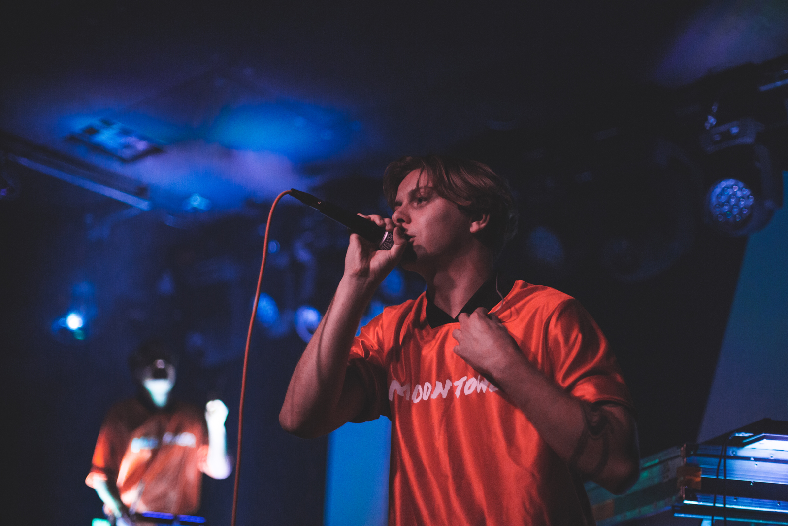 Jacob on vocals at The Moroccan Lounge, September 26, 2018