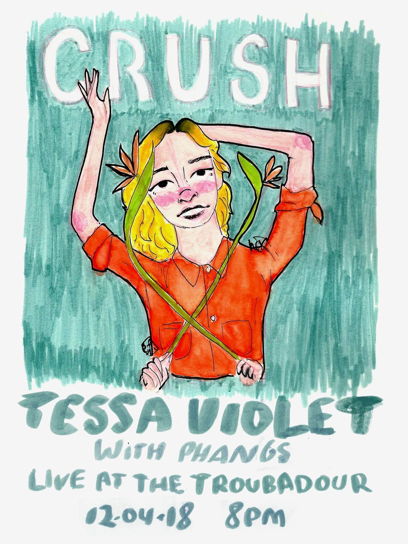 Tessa Violet, concert @ Troubadour // photo source: Facebook