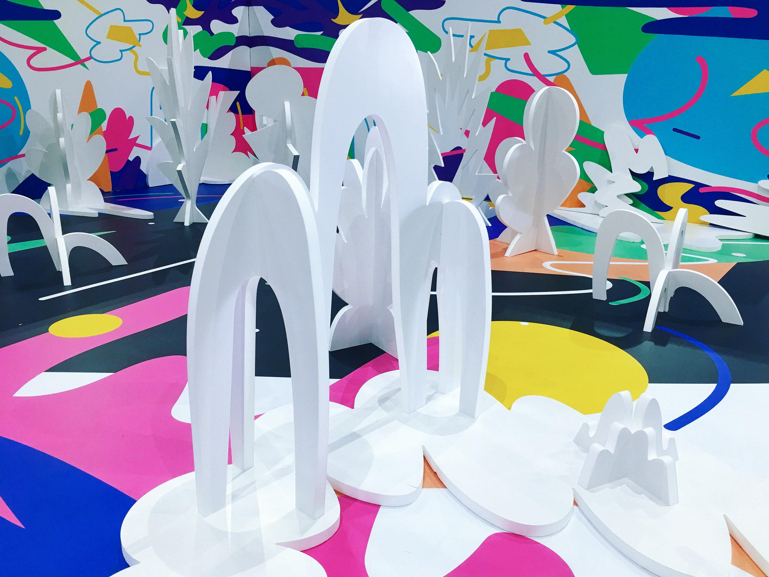 Nadine Kolodziey: The Undrawn Drawing Hollywood Garden, art installation @ Space 15 Twenty // photo source: Facebook