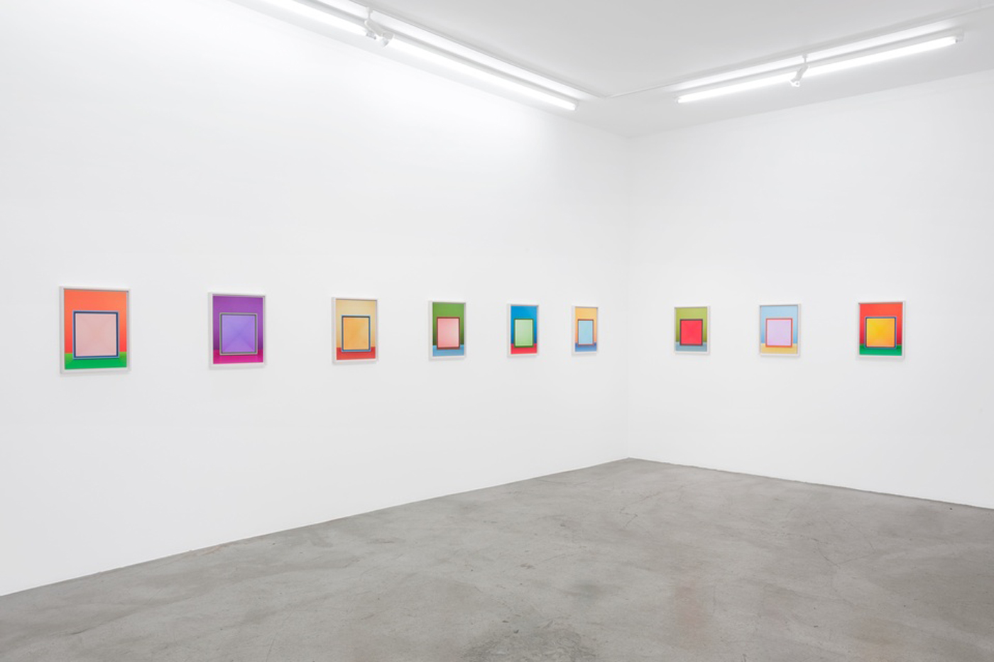 Jessica Eaton: Iterations (II), art exhibit @ M+B Gallery // photo source: mbart.com