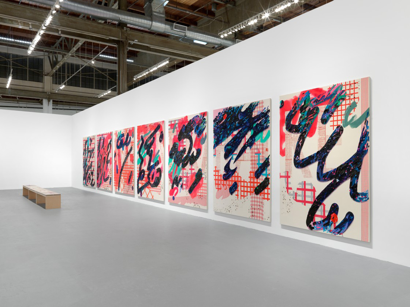 Laura Owens, art exhibit @ The Geffen Contemporary at MOCA // photo source: moca.org