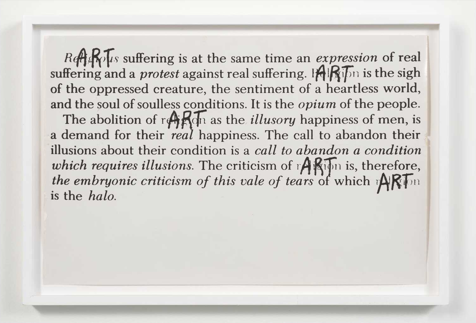 Celebration of Our Enemies, art exhibit @ Hammer Museum // photo source: hammer.ucla.edu