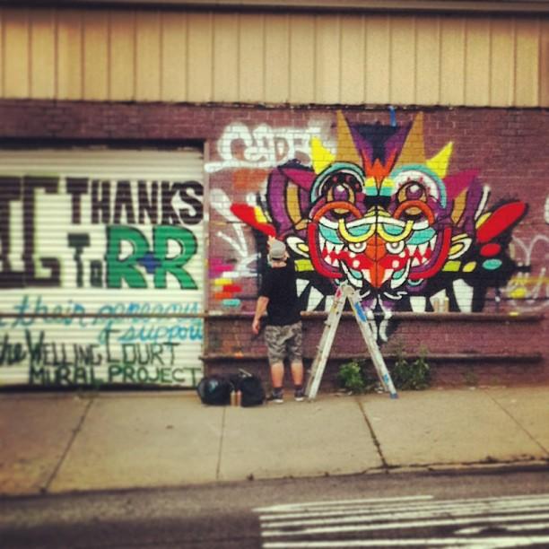Exspraysion. (at Astoria, NY)