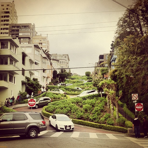 America's Most Crookedest Street (at Lombard Street)