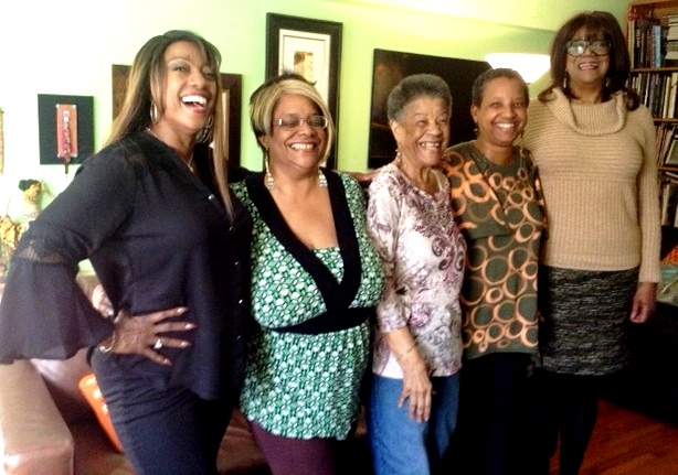 All smiles after the shoot. Bern Nadette Stanis, Denise, Izola, Shimoda, Paula Rice
