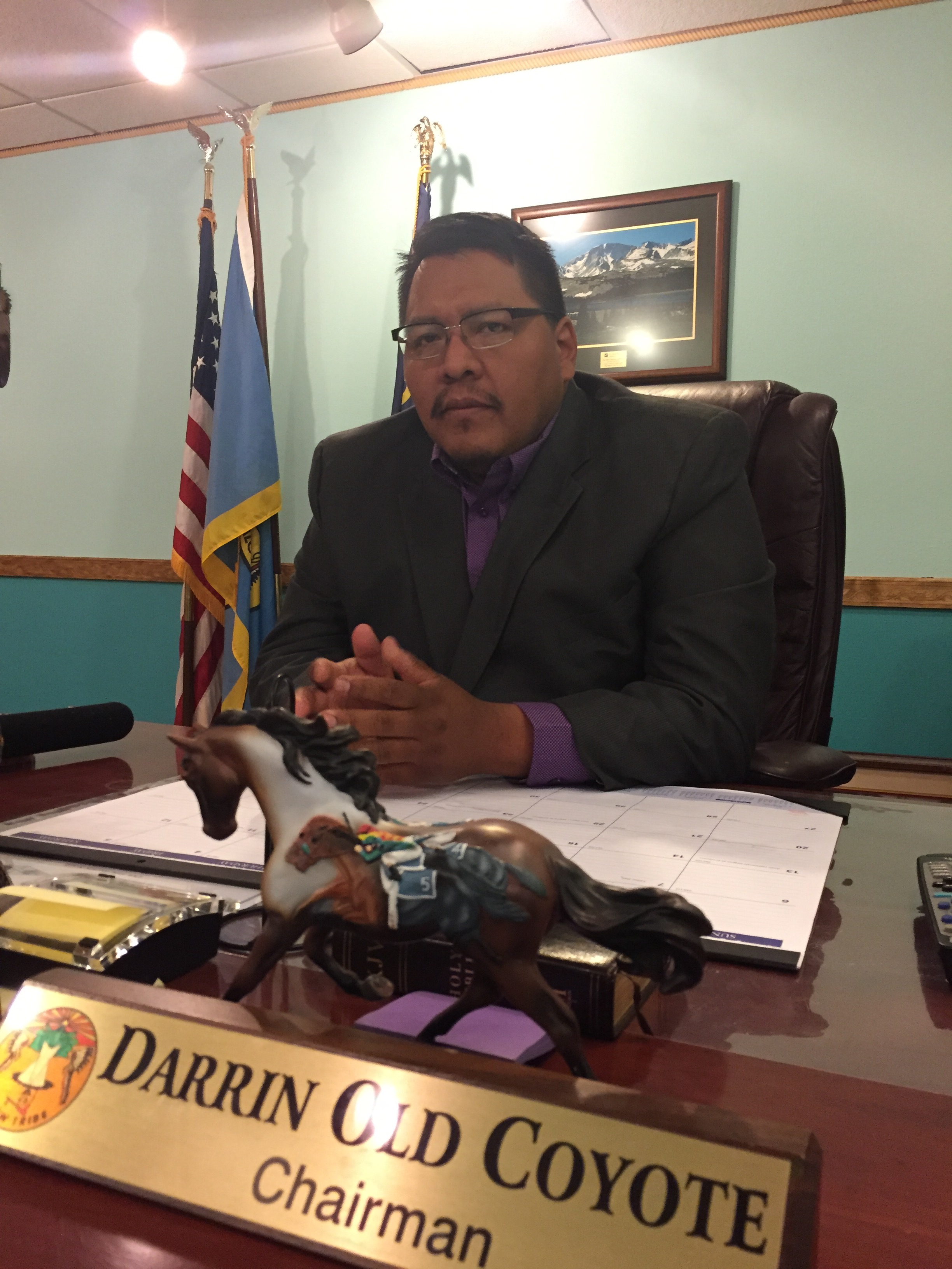 Darrin Old Coyote is chairman of the Apsaalooke Nation, also known as the Crow Tribe.