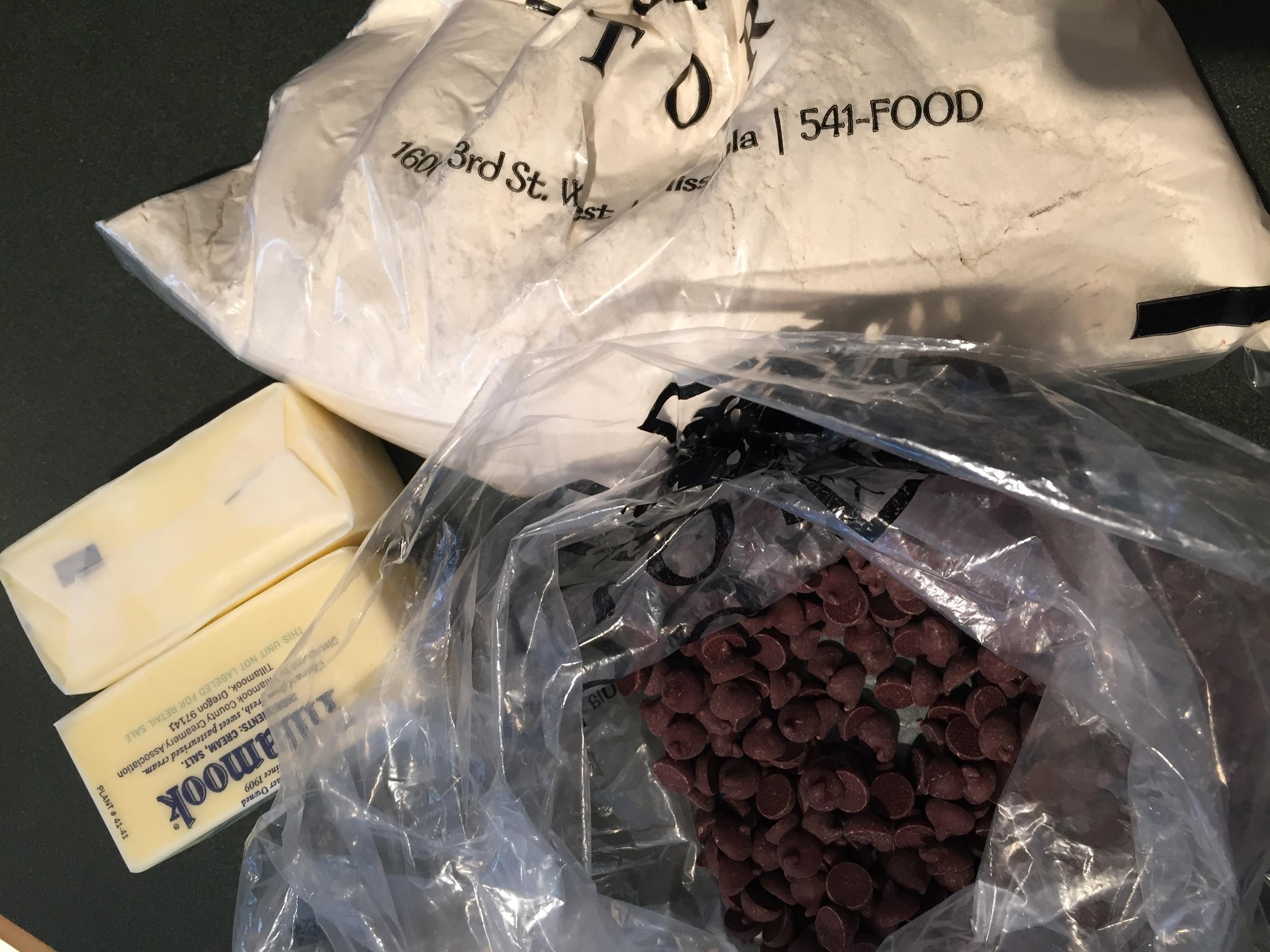 Cookie ingredients await!