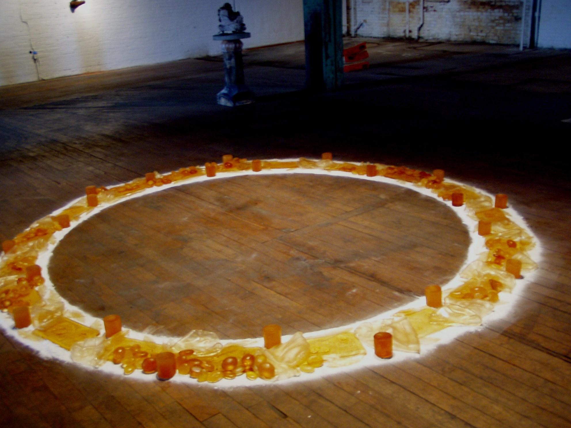"""Circle"", cast rubber, 2003"
