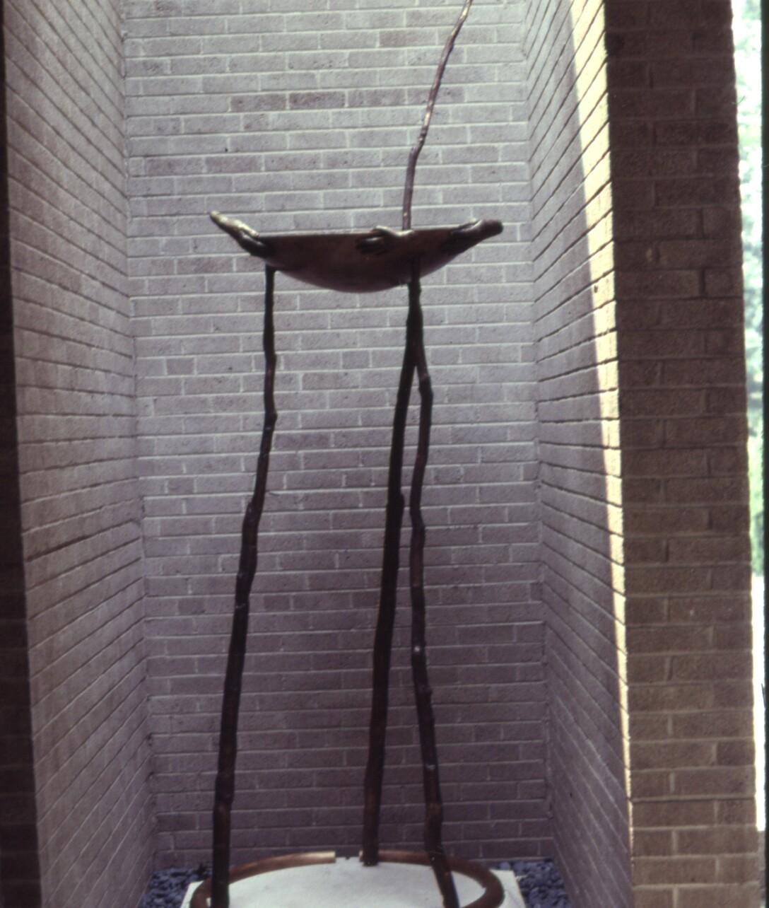 Commission, St. John's, cast bronze, stone