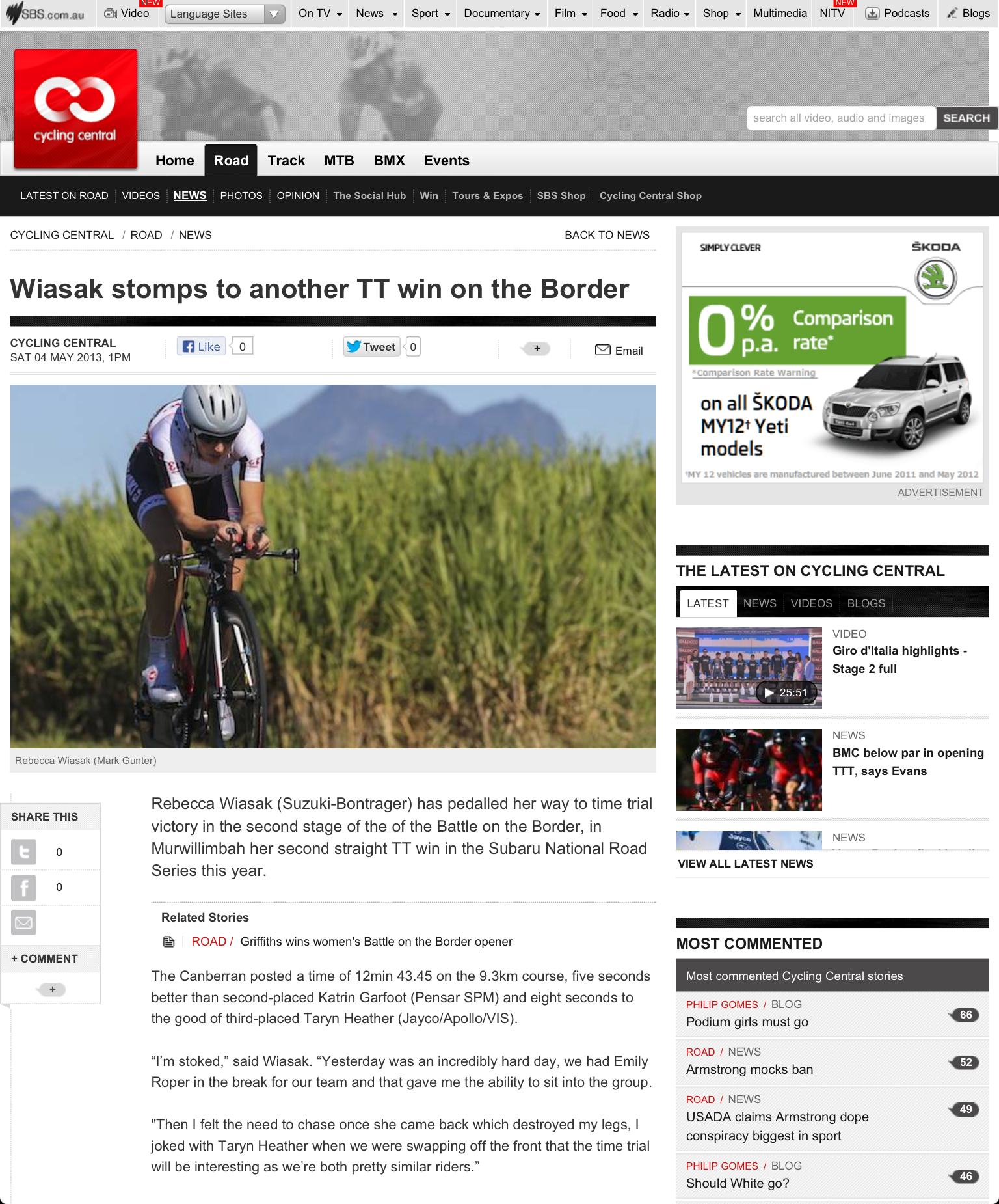 Cycling Central News  4 May 2013