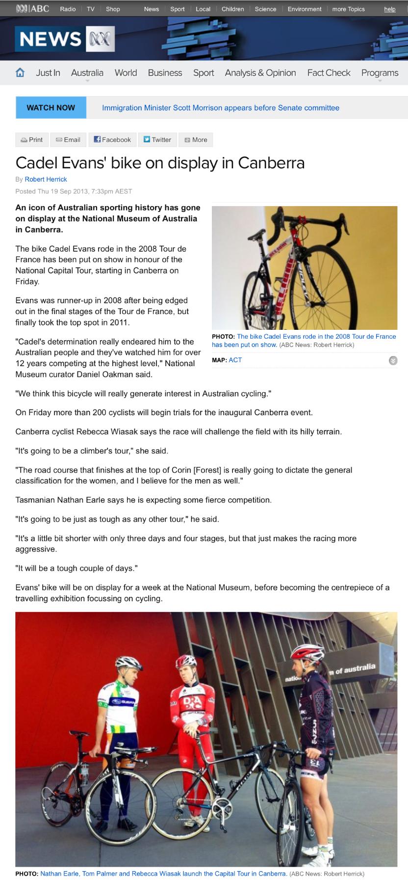 ABC News  19 September 2013