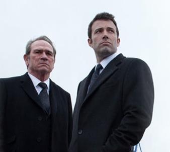 """Tommy Lee Jones & Ben Affleck in """"The Company Men"""" movie."""