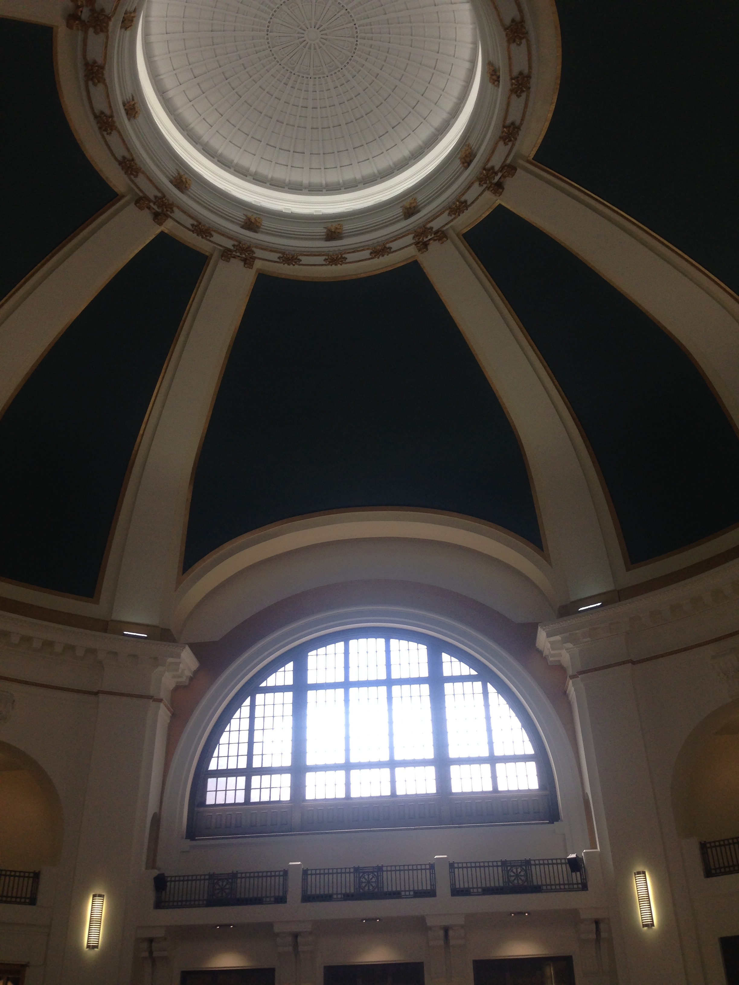 Inside the train station. Truly a beautiful building that is currently being restored.
