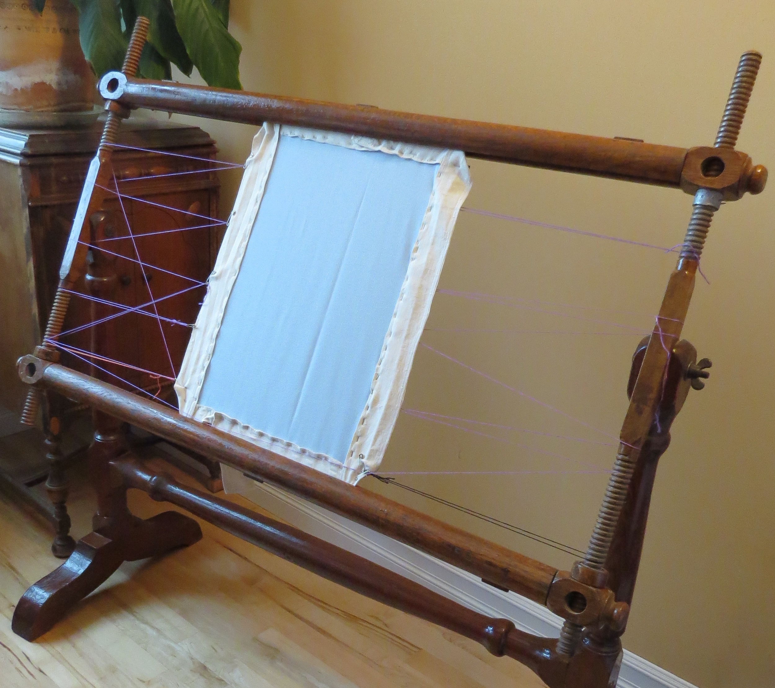 My grandmother's loom, which she commissioned in the 1934.