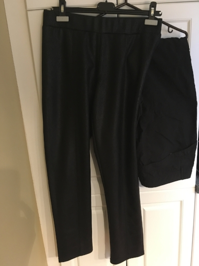 Left, one of the pairs of dress pants (I need to exchange the other one)and on the right, one of the pairs of convertible cargo pants.