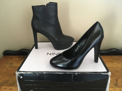 The unecessary ankle boot and the much-needed black pump.